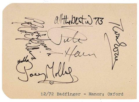 Badfinger The Manor Studios, Oxford Dec 1972