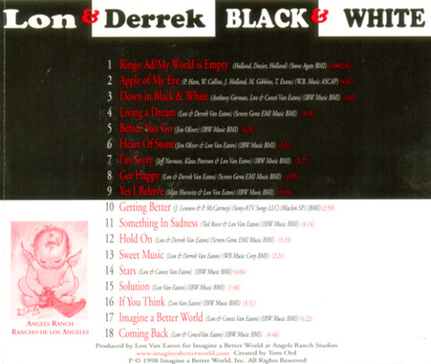 Lon & Derrek Van Eaton - Black & White (1998) back