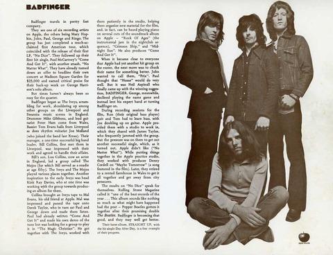 Apple Original No Dice Straight Up promo flyer 1973 d