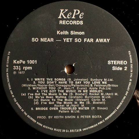 Keith Simon - So Near - Yet So Far Away r2
