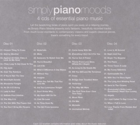 Chris Ingham - Simply Piano Moods 4cd back
