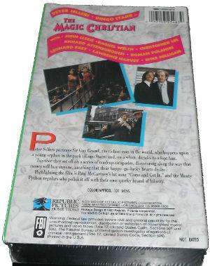 The Magic Christian VHS 101m Republic 2 back