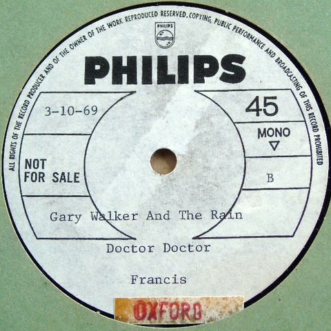 Gary Walker & The Rain 10'' Acetate b