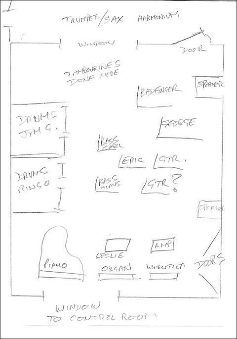 Sketch by tape operator John Leckie