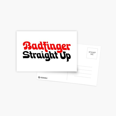 Badfinger Straight Up Postcard