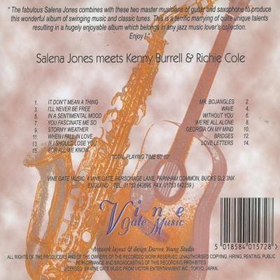 Salena Jones - Meets Kenny Burrell & Richie Cole (1997) back