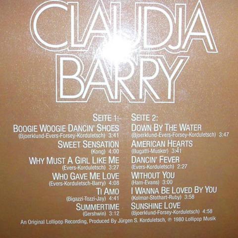 Claudja Barry - Claudja Barry 1980 back