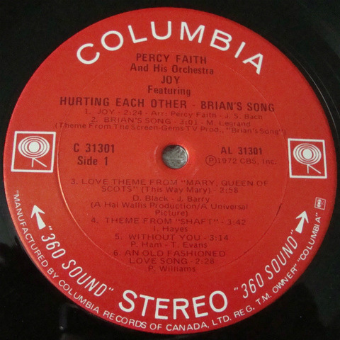Percy Faith - C 31301 Canada r