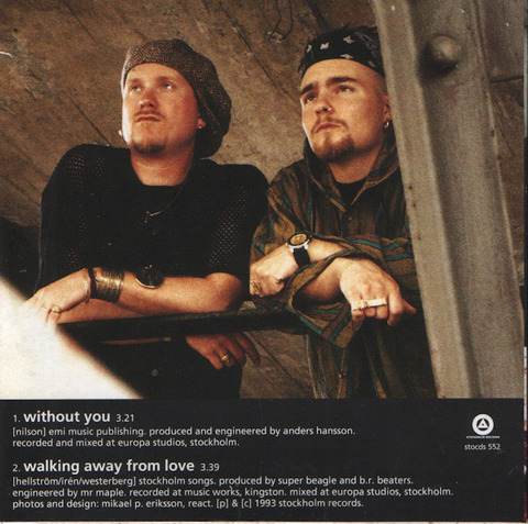 Chilly White & Kenny Peach - Without You (1993) back