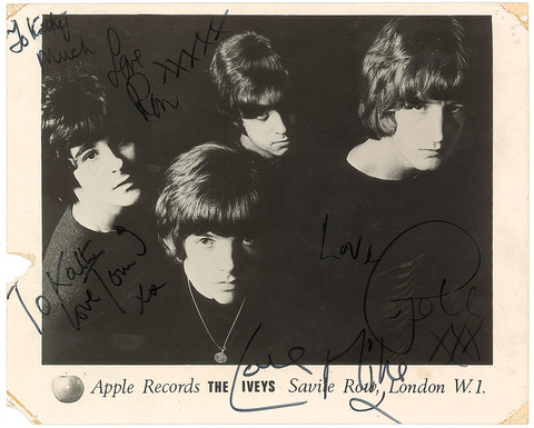 #7228 - Badfinger The Iveys Signed Photograph