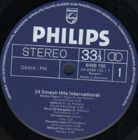 24 Smash Hits International (1972) r