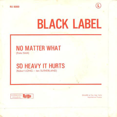 Black Label - No Matter What (1971) back