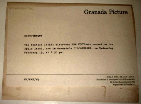 Granada Television Discotheque Feb 1969 The Iveys back