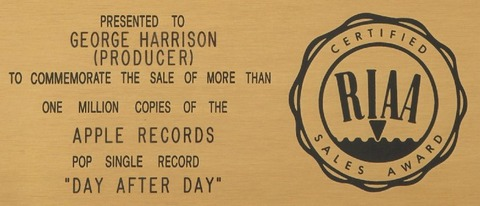 RIAA Presented to George Harrison (Producer)