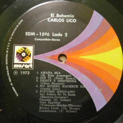 Carlos Lico - El bohemio 1973 r
