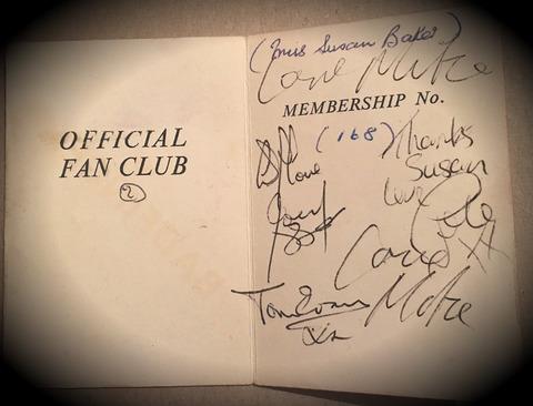 Badfinger Fan Club Membership Card 168