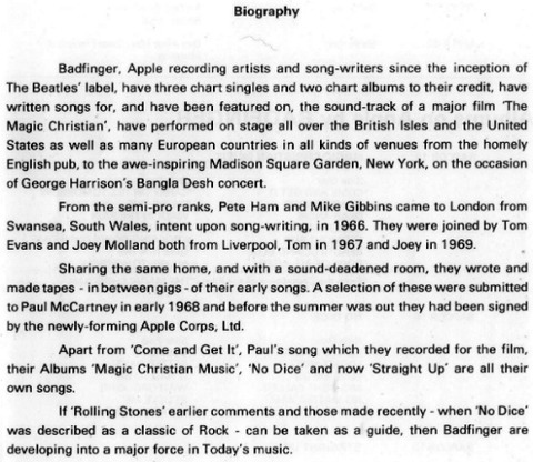 Badfinger Biography 3