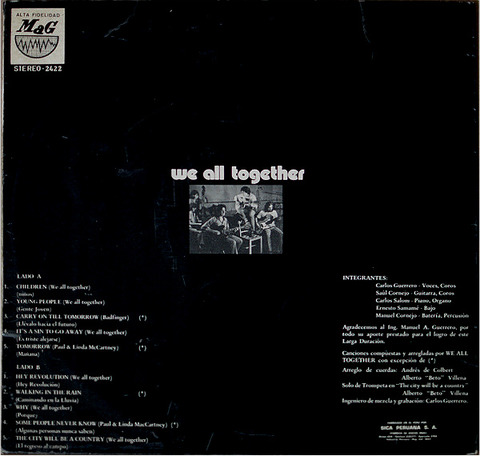 We All Together 2422 LP back 2