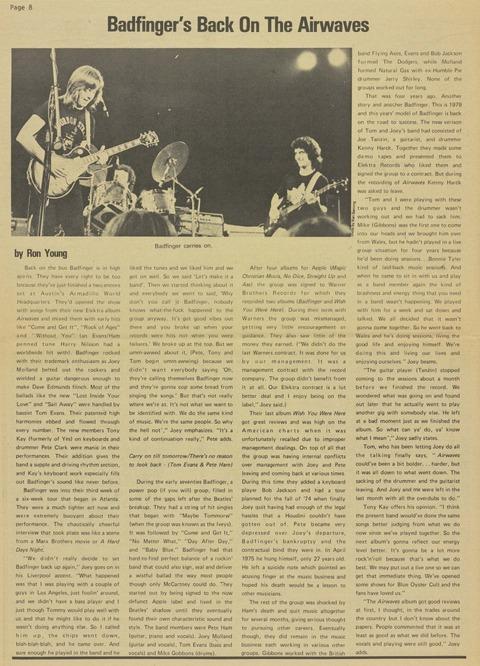 It's Only Rock 'N' Roll, Volume 2 #3, July 1979 p8 big
