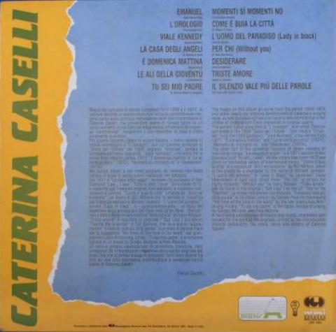 Caterina Caselli LSM 1180 back