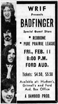 Ford Auditorium, Detroit, Michigan (Feb 11, 1972)