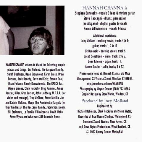 Hannah Cranna 1997 Joey