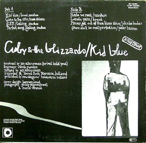 Cuby & The Blizzards - Kid Blue INT 145 604 back