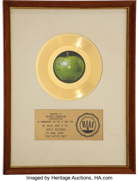Badfinger Day After Day RIAA Gold Record Auction 7089 Lot 46477