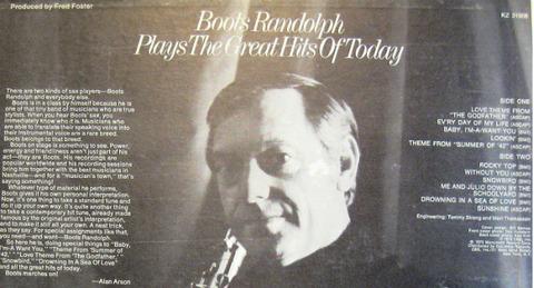 Boots Randolph - KZ 31908 back