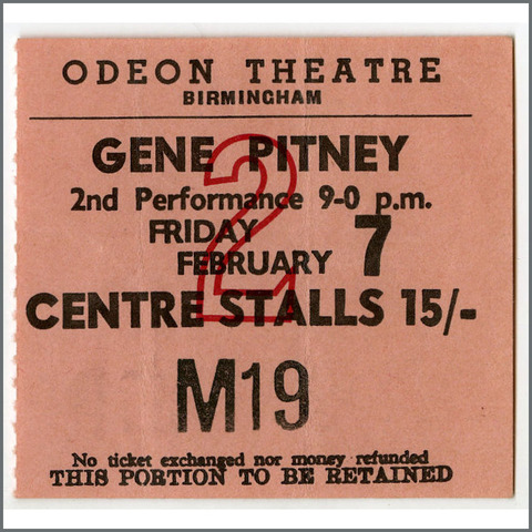 B25743 Iveys Odeon Theatre, Birmingham Feb 7, 1969