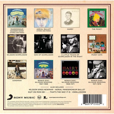 Nilsson Box The RCA Album Collection Back