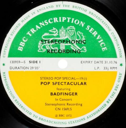Badfinger BBCTS 1972