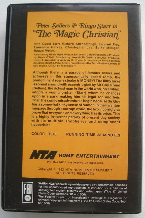The Magic Christian 1982 beta 88mins NTA Home Entertainmen back
