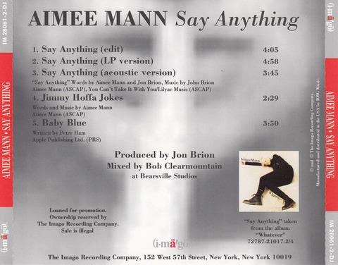 Aimee Mann - Imago IM 28061-2-DJ a