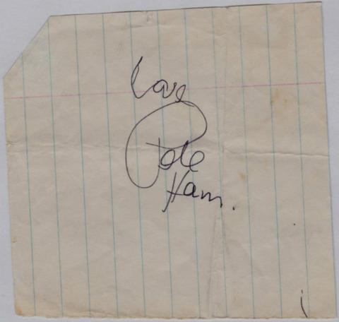 New Orleans (March 31, 1972) Pete Ham autograph
