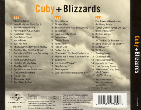 Cuby + Blizzards - Collected back