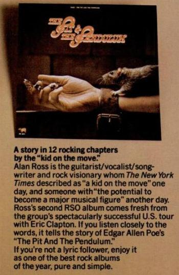 Ross Billboard Nov 23 1974 ad