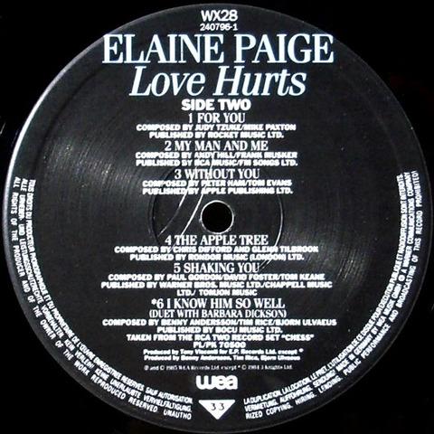 Elaine Paige - Love Hurts WX 28 r