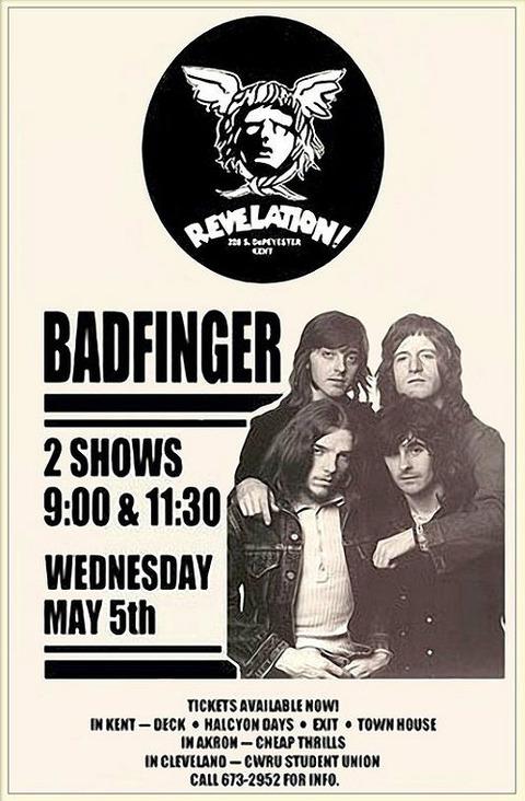Badfinger Revelation May 5, 1971 poster