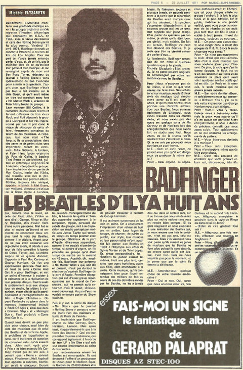 Pop Music Superhebdo #69 22 July 1971