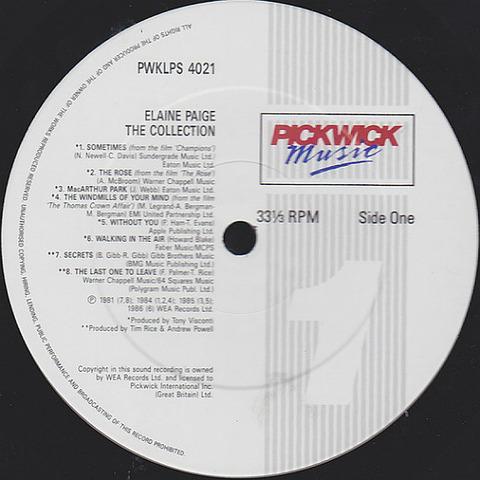 Elaine Paige - The Collection LP r