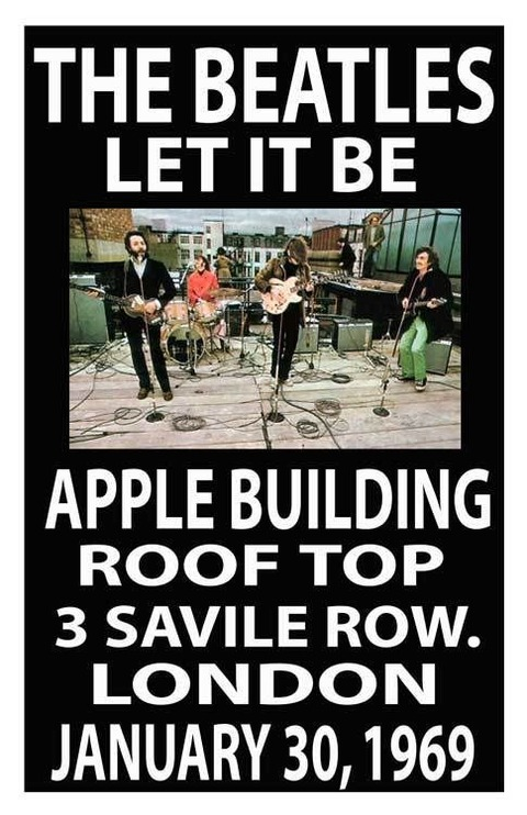 Beatles Replica 40THANNIVERSARY Roof Top Concert Poster