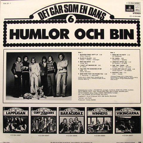 Humlor Och Bin - 4E 054-34980 back