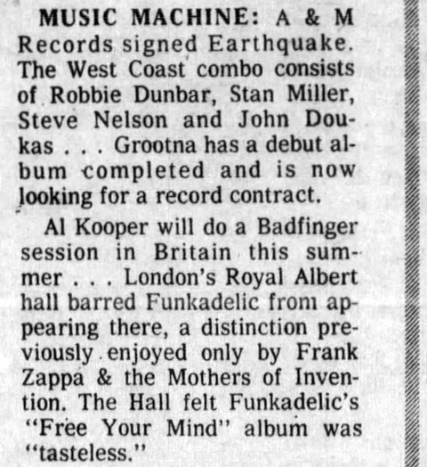 Dayton Daily News June 20, 1971 Al Kooper