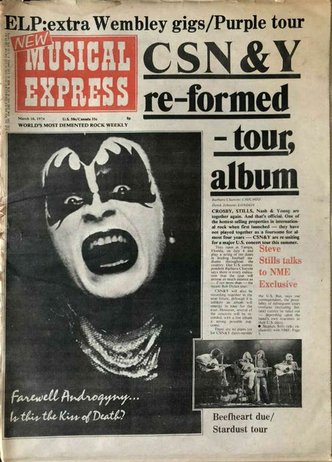 NME March 16, 1974 cover