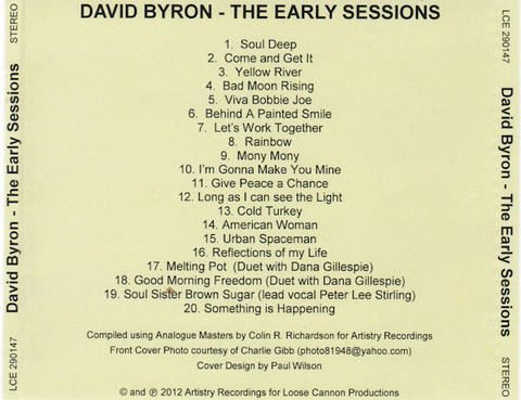 David Byron Early vol 1 big back