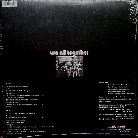 We All Together 2007 Get Back LP back