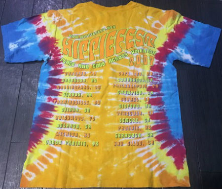 Hippiefest 2007 T-shirt tie dye back