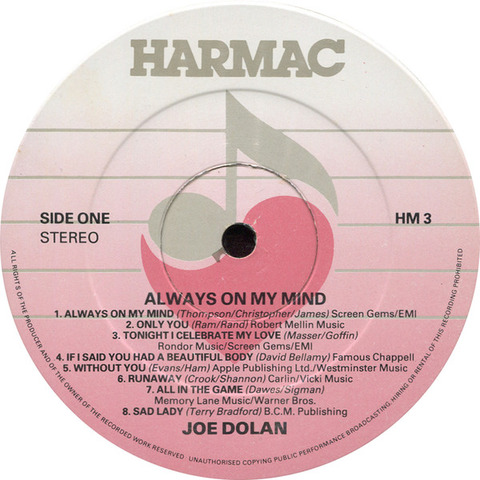 Joe Dolan - Always On My Mind r