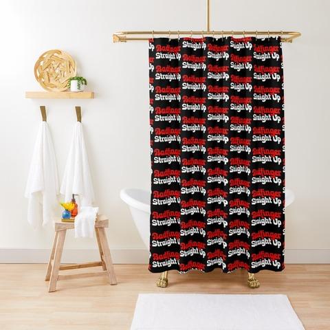 Badfinger Straight Up Shower Curtain